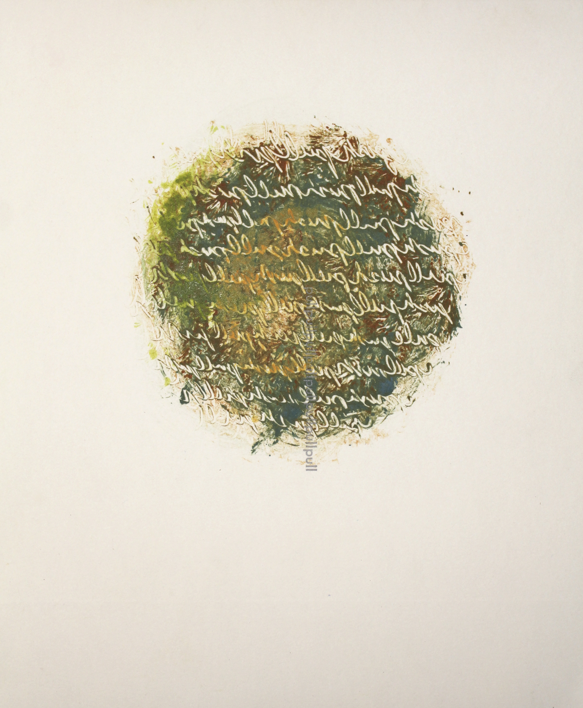 """""""Dissolution of Structure [Thought 1]"""" monotype + letterpress print by Amy Redmond (Amada Press)"""
