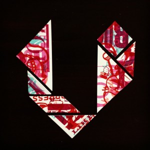 """V"" Tangram Study for #TheEveryLetterProject"